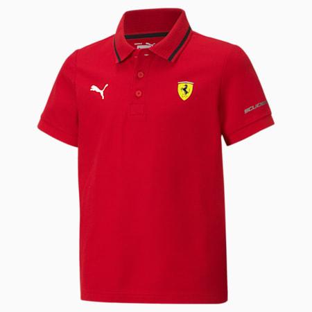 Scuderia Ferrari Racing Youth Polo Shirt, Rosso Corsa, small-SEA