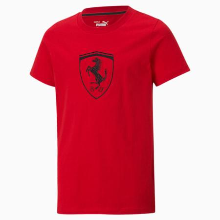 T-shirt oversize Scuderia Ferrari Racing enfant et adolescent, Rosso Corsa, small