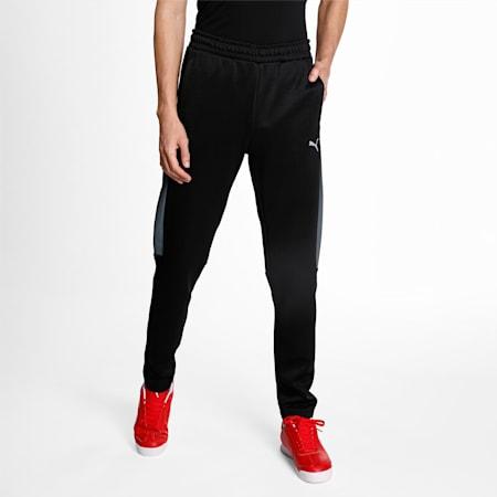 Scuderia Ferrari Style T7 Men's Track Slim Pants, Puma Black, small-IND