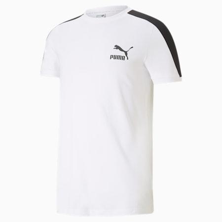 Camiseta icónica T7 para hombre, Puma White, pequeño