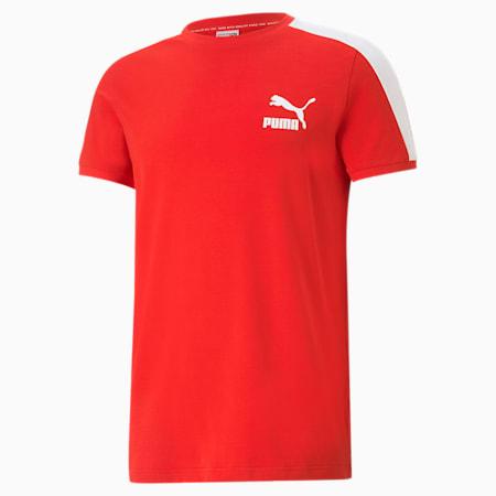 Camiseta icónica T7 para hombre, High Risk Red, pequeño