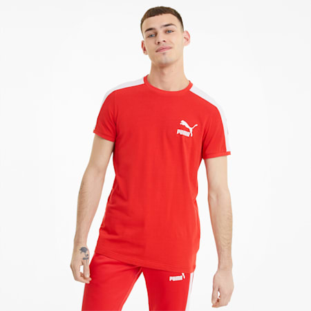 Iconic T7 Men's Tee, High Risk Red, small-SEA