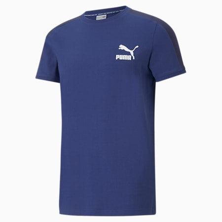 Camiseta icónica T7 para hombre, Elektro Blue, pequeño
