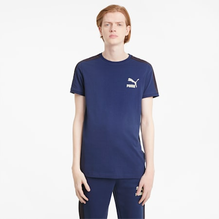 Iconic T7 Men's Tee, Elektro Blue, small