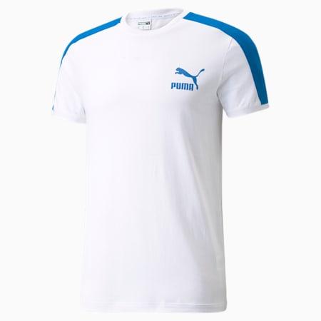 Iconic T7 Men's Tee, Puma White-future blue, small