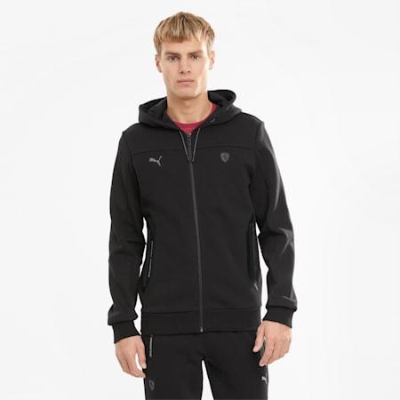 Scuderia Ferrari Style Hooded Men's Sweat Jacket, Puma Black, small-GBR