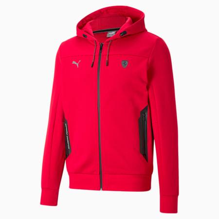 Scuderia Ferrari Style Hooded Men's Sweat Jacket, Rosso Corsa, small-GBR