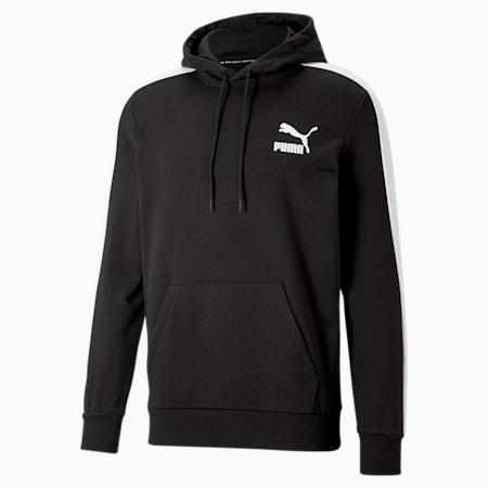 Sudadera con capucha Iconic T7 para hombre, Puma Black, pequeño