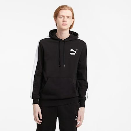 Iconic T7 hoodie heren, Puma Black, small