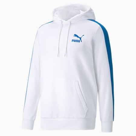 Iconic T7 Men's Hoodie, Puma White-Future Blue, small-GBR