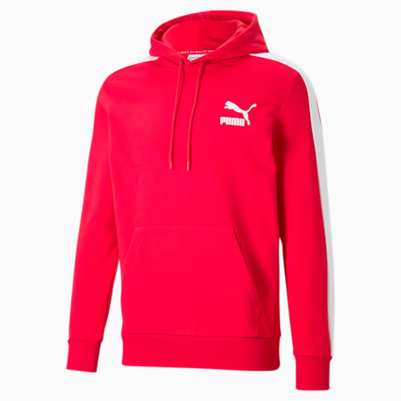 Iconic T7 Men's Hoodie, High Risk Red, small-GBR