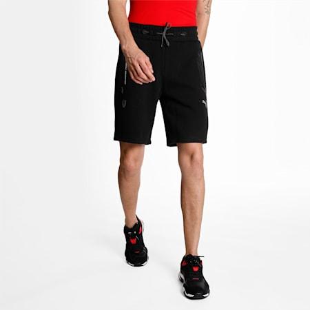 Scuderia Ferrari Style Men's Sweat Shorts, Puma Black, small-IND