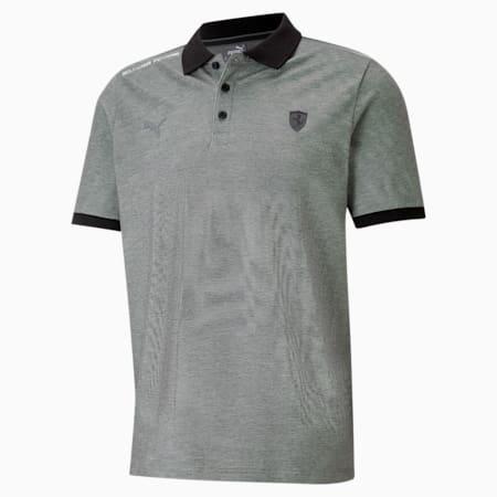 Scuderia Ferrari Style Two-Tone Men's Polo Shirt, Puma Black, small-GBR