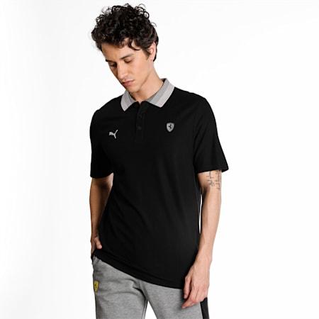 Scuderia Ferrari Style Gradient Men's Polo Shirt, Puma Black, small-IND