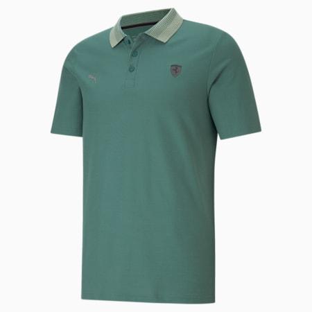 Scuderia Ferrari Style Gradient Men's Polo Shirt, Blue Spruce, small-IND