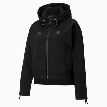 Scuderia Ferrari Style Hooded Women's Sweat Jacket, Puma Black, small