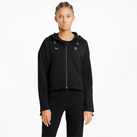 Chaqueta deportiva con capucha Scuderia Ferrari Style para mujer, Puma Black, small