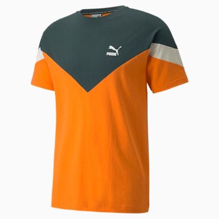 Iconic MCS Men's  T-shirt, Vibrant Orange, small-IND