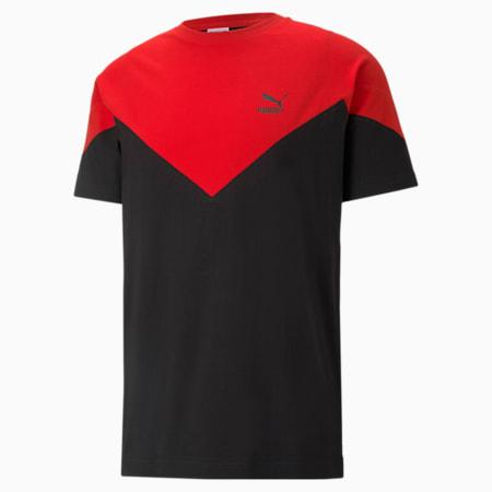 Camiseta MCS Iconic para hombre, Puma Black-high risk red, small