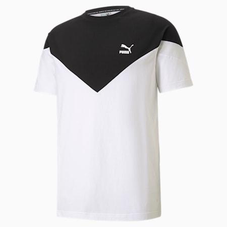 Camiseta icónica MCS para hombre, Puma White-puma black, pequeño