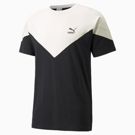 T-shirt Iconic MCS, homme, Noir Puma-Lueur ivoire, petit
