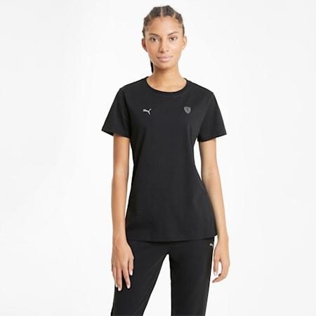 Scuderia Ferrari Style Shield Damen T-Shirt, Puma Black, small