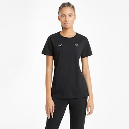 Ferrari Style Shield Relaxed Fit Women's  T-shirt, Puma Black, small-IND