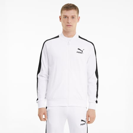 Iconic T7 Men's Track Jacket, Puma White, small