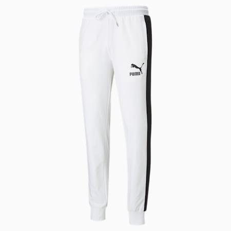 Męskie spodnie dresowe Iconic T7, Puma White, small