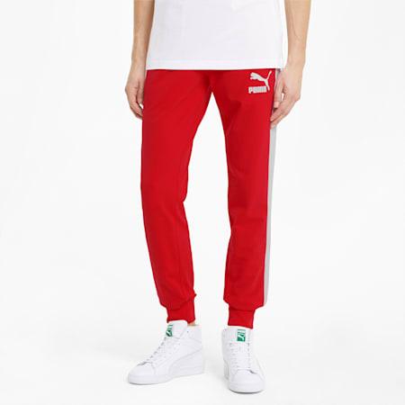 Pantalon de survêtement Iconic T7 homme, High Risk Red, small