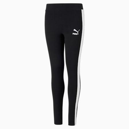 Classics T7 Logo Youth Leggings, Puma Black, small-GBR