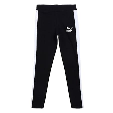 Classics T7 Logo Youth Leggings, Puma Black, small-IND