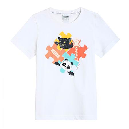 Paw Advanced Kids'  T-shirt, Puma White, small-IND
