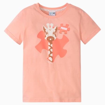 Paw Advanced Kids'  T-shirt, Apricot Blush, small-IND