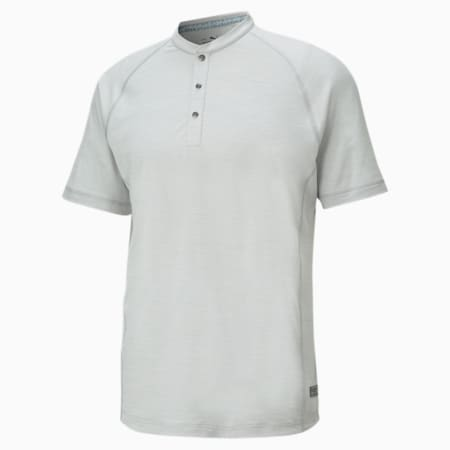 EGW CLOUDSPUN Mat Henley golfpoloshirt voor heren, High Rise Heather, small