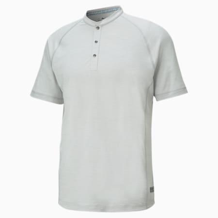 EGW CLOUDSPUN Mat Henley Men's Golf Polo Shirt, High Rise Heather, small-GBR