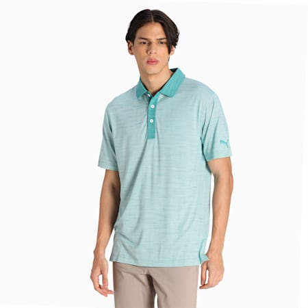 CLOUDSPUN Legend Men's Golf Performance Polo, Teal, small-IND