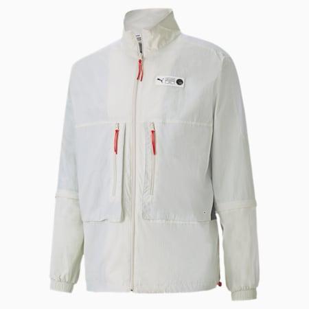 Parquet Men's Warm Up Jacket, Vaporous Gray, small