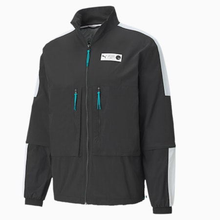 Parquet Warm Up Men's Basketball Jacket, Puma Black, small