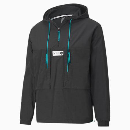 Parquet Men's Quarter Zip Jacket, Puma Black, small