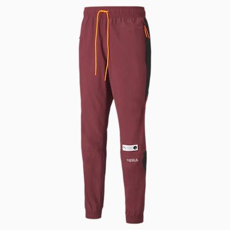 Pantalon de survêtement Parquet Basketball pour homme, Burgundy, small