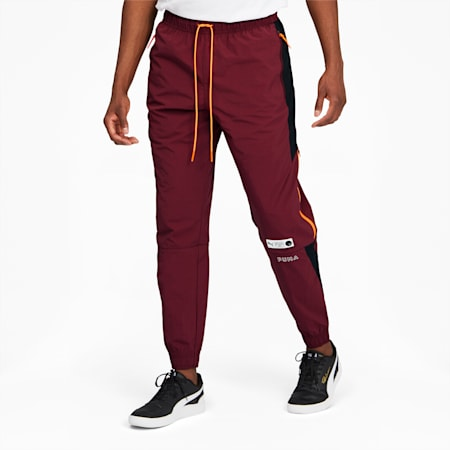 Parquet Men's Track Pants, Burgundy, small