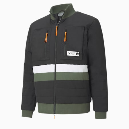 Parquet Men's Puffer Jacket, Puma Black, small