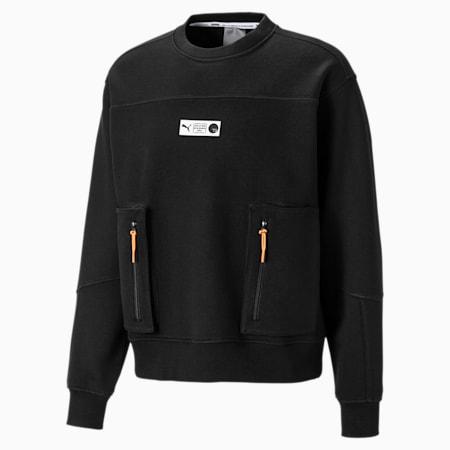 Parquet Crew Neck Herren Basketball Sweatshirt, Puma Black, small