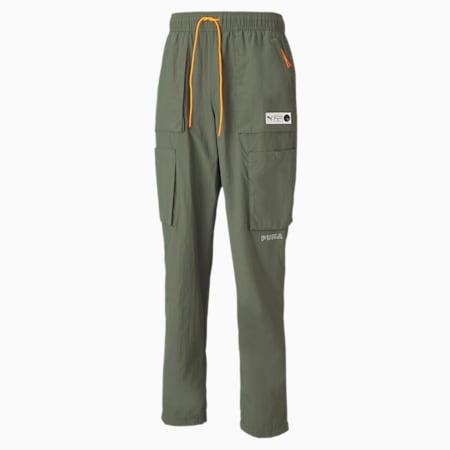 Pantalon cargo Parquet Basketball pour homme, Thyme, small