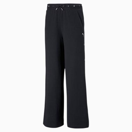 Pantalones tejidos PUMA x LIU WEN para mujer, Puma Black, pequeño