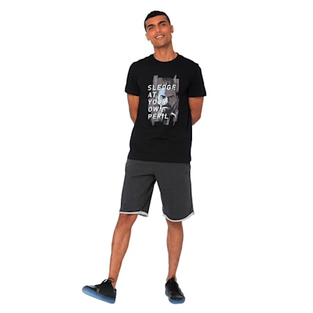 Rebel Cricket Graphic Tee, Puma Black, small-IND