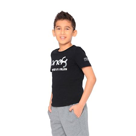 PUMA x one8 Cricket Graphic Kid's T-Shirt, Puma Black, small-IND