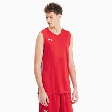 Basketbal wedstrijdshirt voor heren, High Risk Red, small