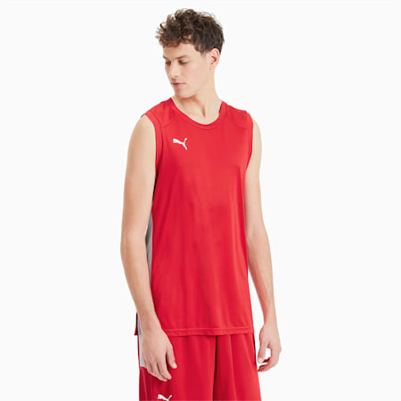 Camiseta Basketball Game para hombre, High Risk Red, small